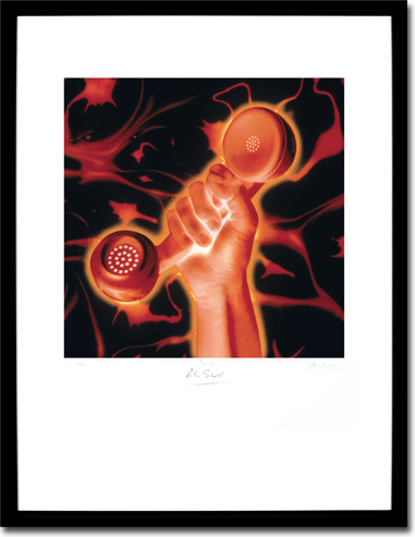 Peter Gabriel - Secret World Live, Album Cover. Framed Print